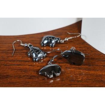Colliers en magnétite et perles 4 couleurs